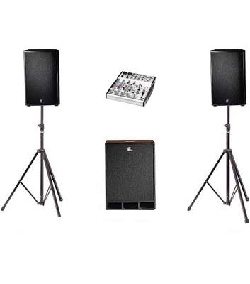 1.5kW Speaker System Hire Kent