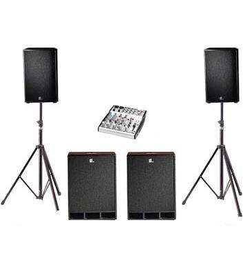 3kW Disco Speaker System Hire Kent