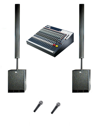 3kW Presentation PA System Hire in Kent, London & the South East