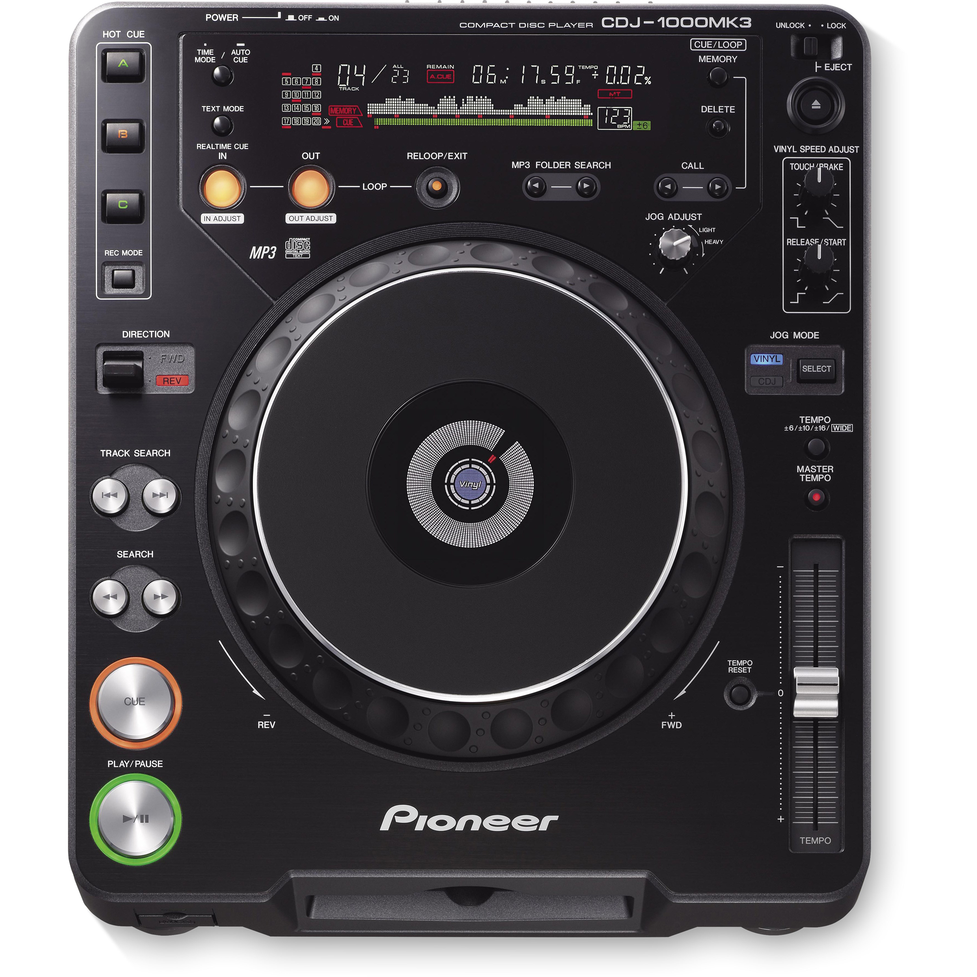 pioneer cdj 1000mk3 dj cd player bandshop sound light. Black Bedroom Furniture Sets. Home Design Ideas