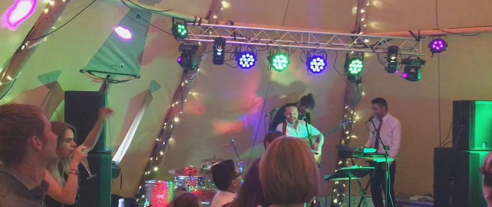 Festival event PA sytem, sound system & lighting hire from Bandshop Sound & Light
