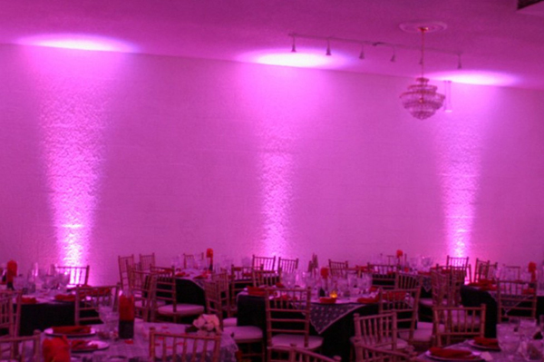 Event uplighter hire from Bandshop Sound & Light