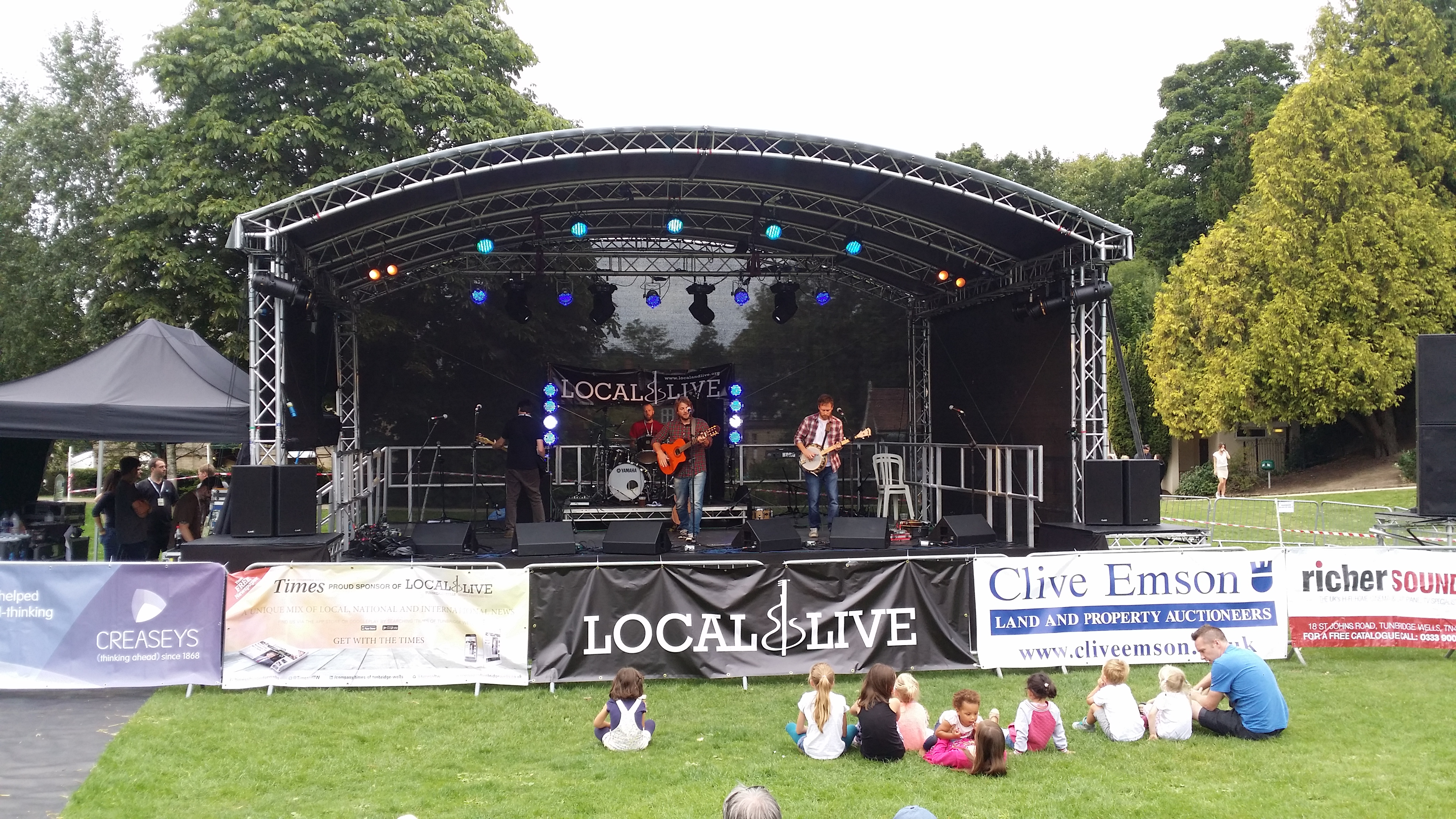 Stage cover hire in Kent, London & the South East