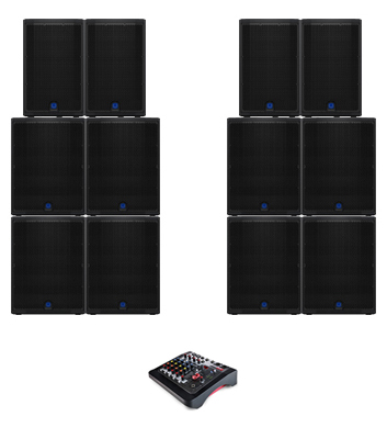 Club DJ Speaker System Hire in Kent, London & the South East