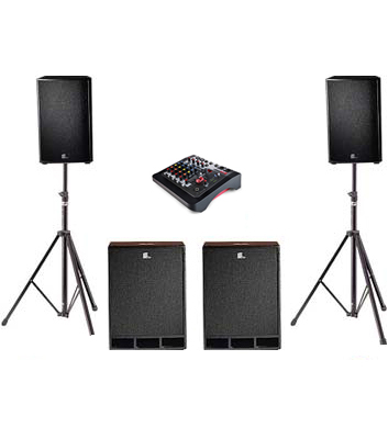 3kW Disco Speaker System Hire Kent
