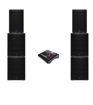 6kW DJ Speaker System Hire Kent