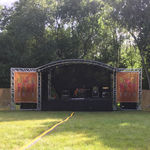 Milos MR1 ARC 6m x 4m stage hire in Kent, London & the South East