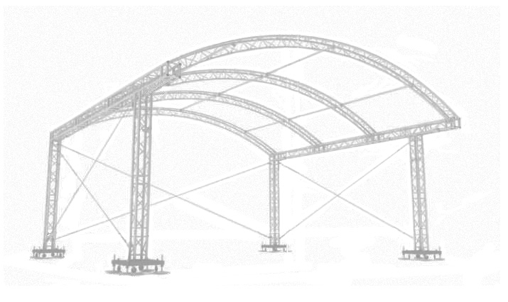 Milos MR1 ARC 8m x 6m Stage Roof hire in Kent, London & the South East