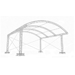 Milos MR1 ARC 6m x 4m Stage Roof hire in Kent, London & the South East